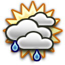 Light Rain, Mostly Cloudy